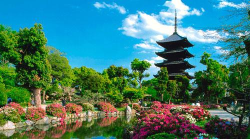 Pagoda en Jardin Japones