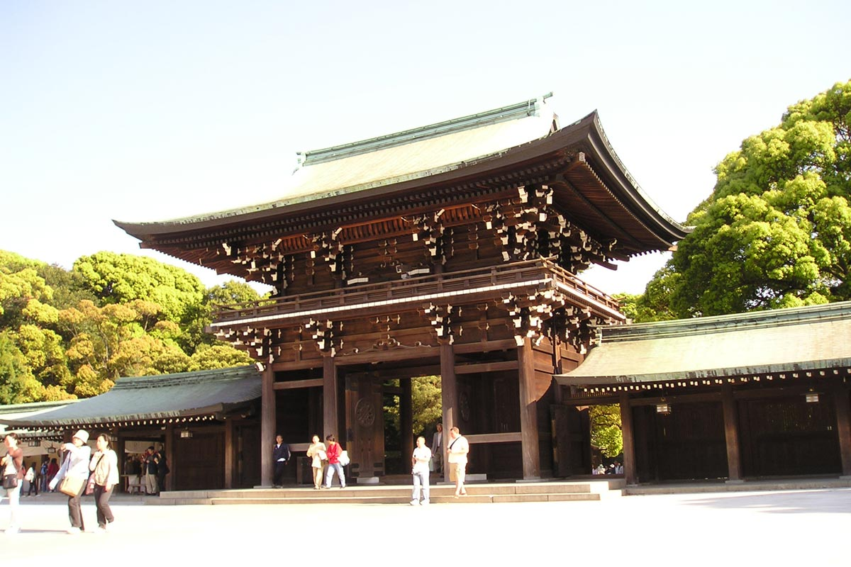 Zona interior santuario Meiji