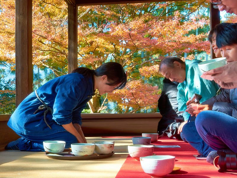 Te matcha en el templo Sanzen-in