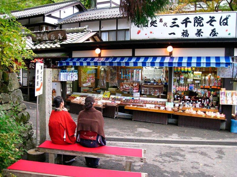 Tiendas templo Sanzen-in