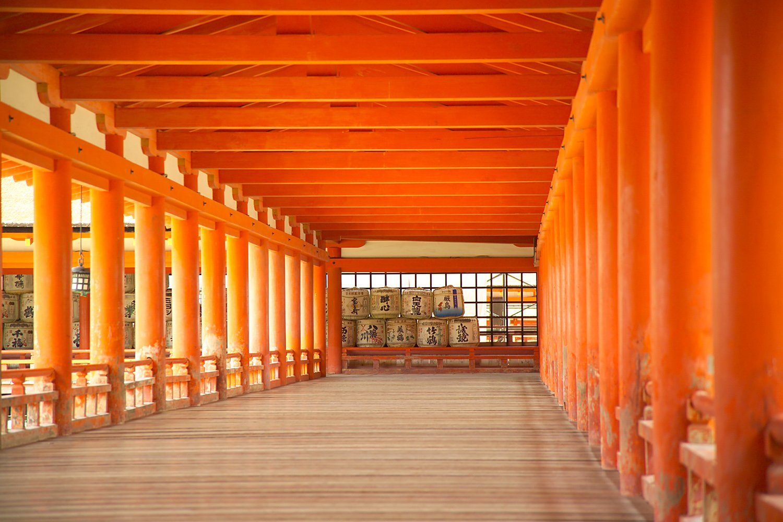 Interior del santuario de Itsukushima