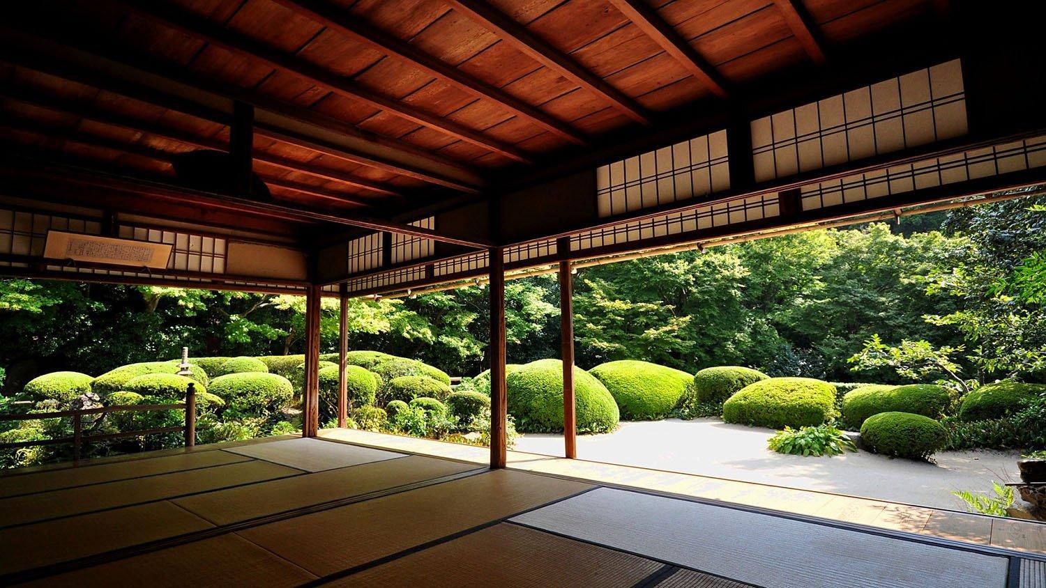 Jardín zen en Japón