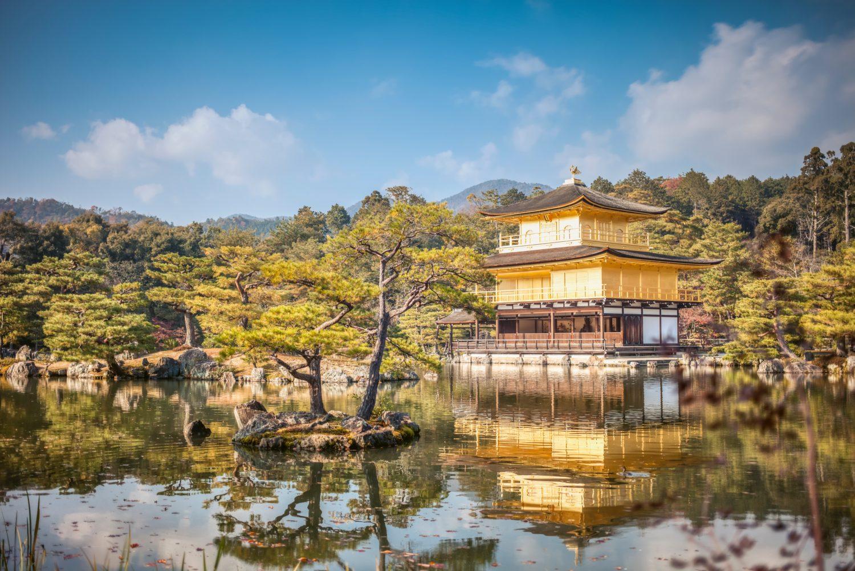 Kinkaku-ji o Templo Dorado en Kyoto