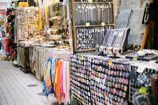 Tienda de accesorios en Takeshita-dori