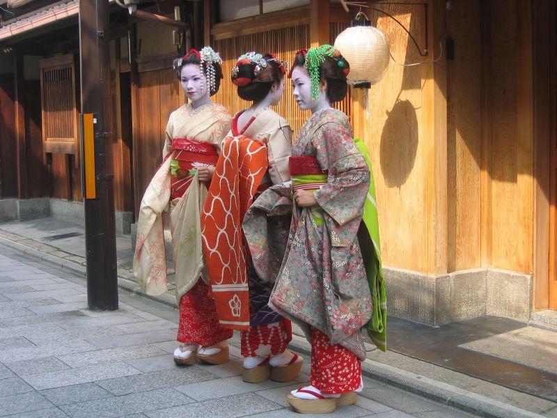 Geishas en Gion, Kyoto