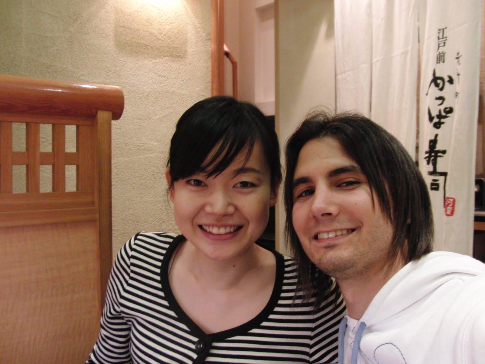 Con mi amiga japonesa