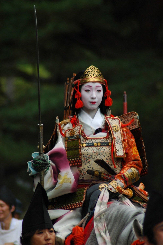 Guerrera samurái japonesa