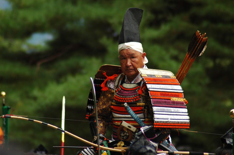 Guerrero en el Jidai Matsuri de Kioto