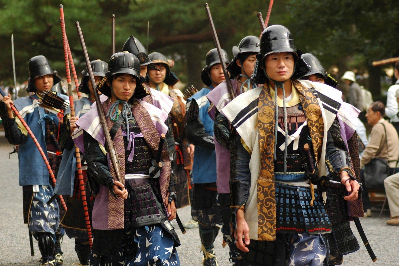 Guerreros en el Jidai Matsuri de Kioto