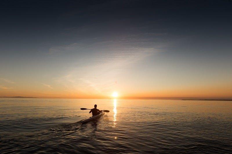Zamami en kayak