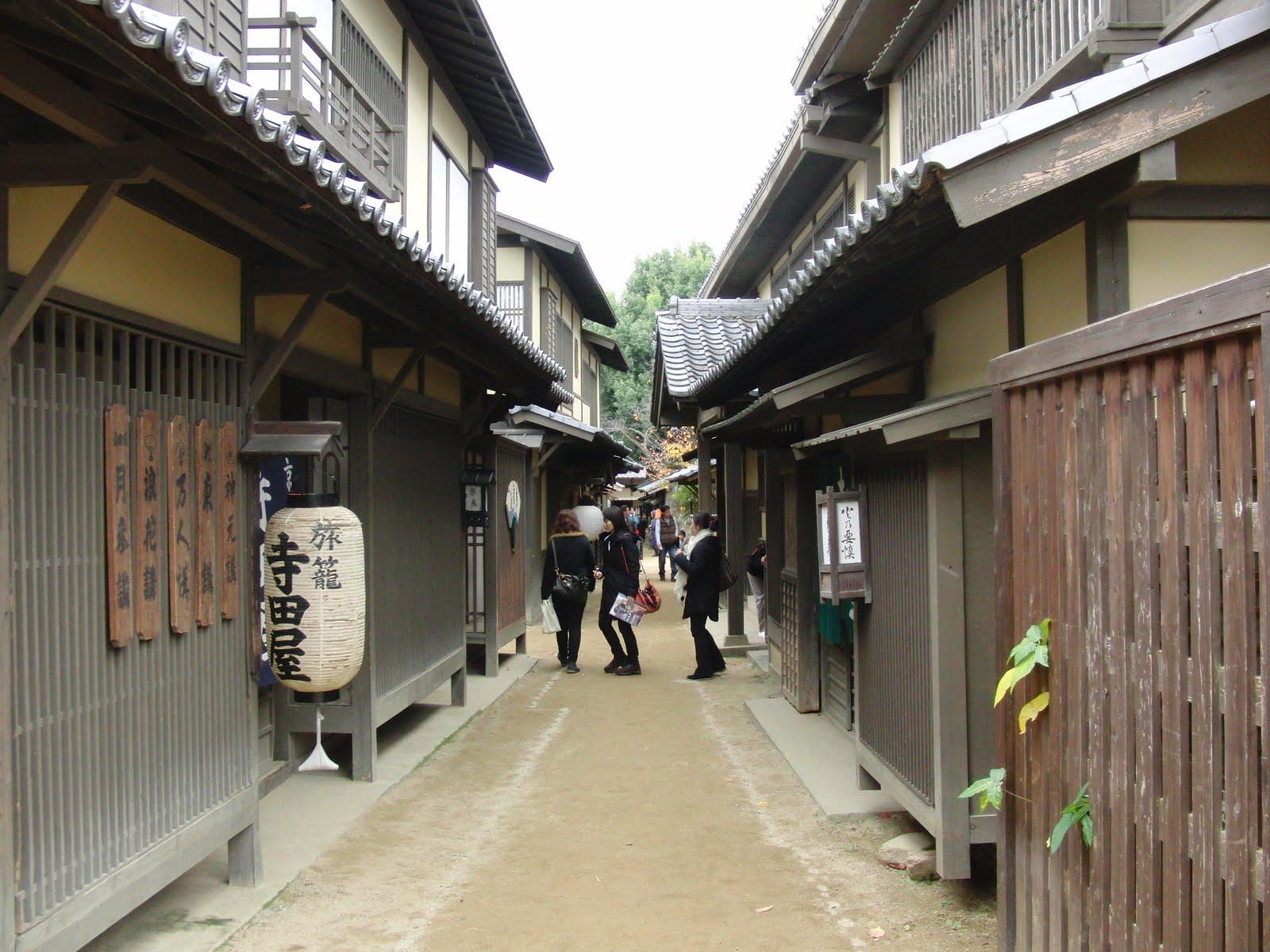 Calle en los estudios de cine de Kioto