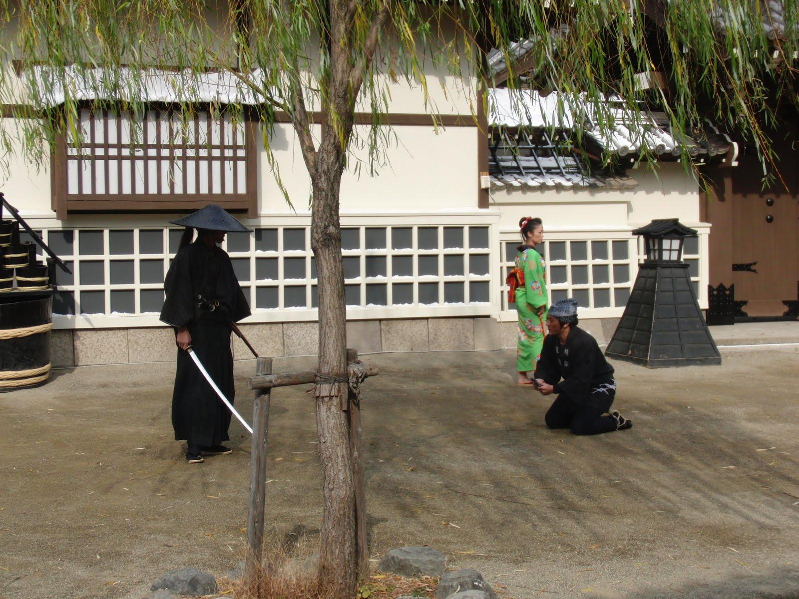 Espectáculo de ninjas en los estudios de cine de Kioto