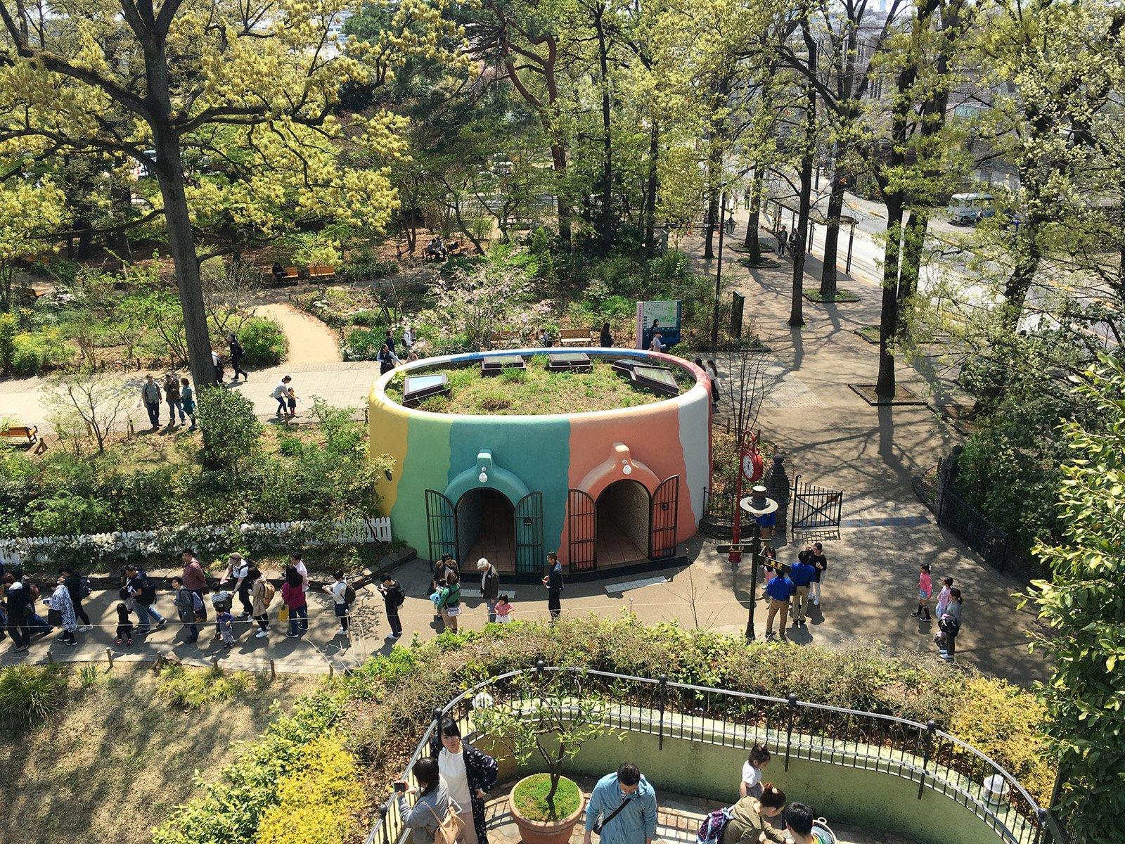 Museo Ghibli desde la terraza