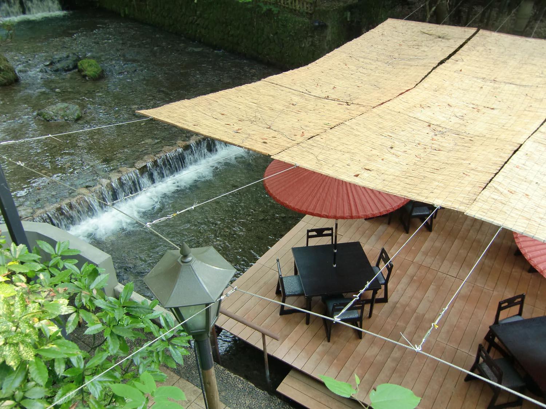 Terraza de restaurante en Kibune