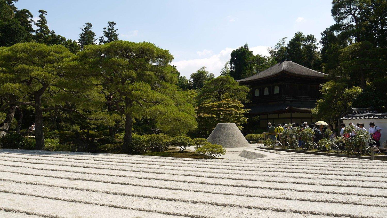 Jardín zen Ginkakuji Kioto