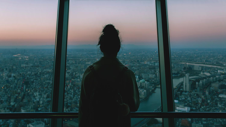 Vistas desde la torre de Tokyo