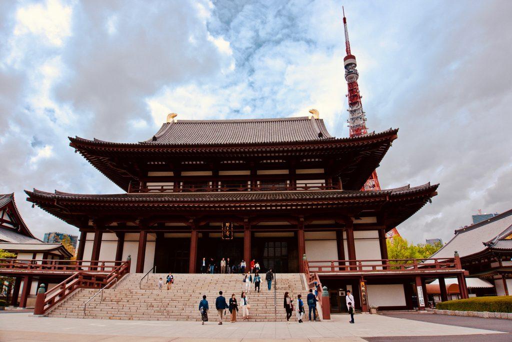 Templo Zojoji junto a la Tokyo Tower