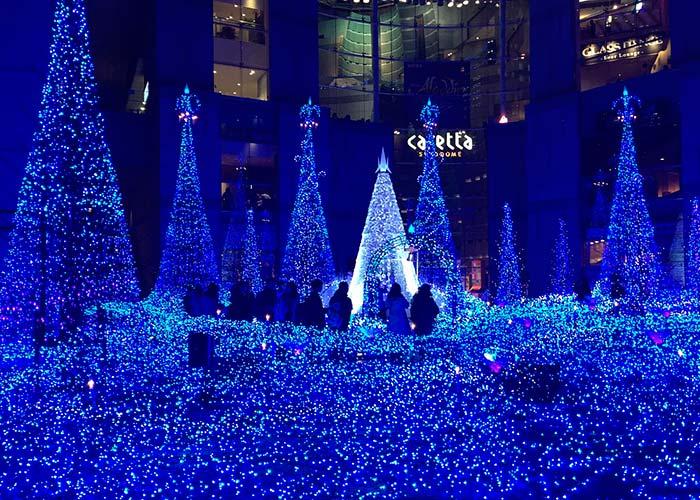 Iluminacion del Caretta Sidome en Tokio