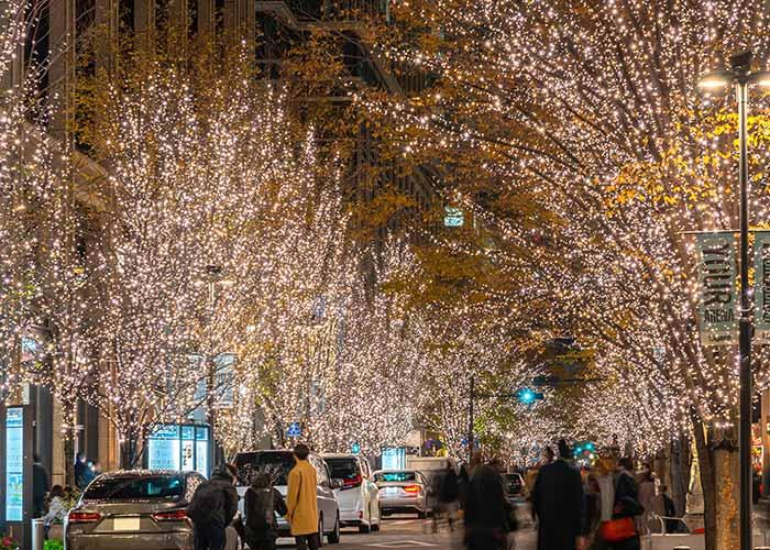 Iluminacion Maronouchi en Tokio