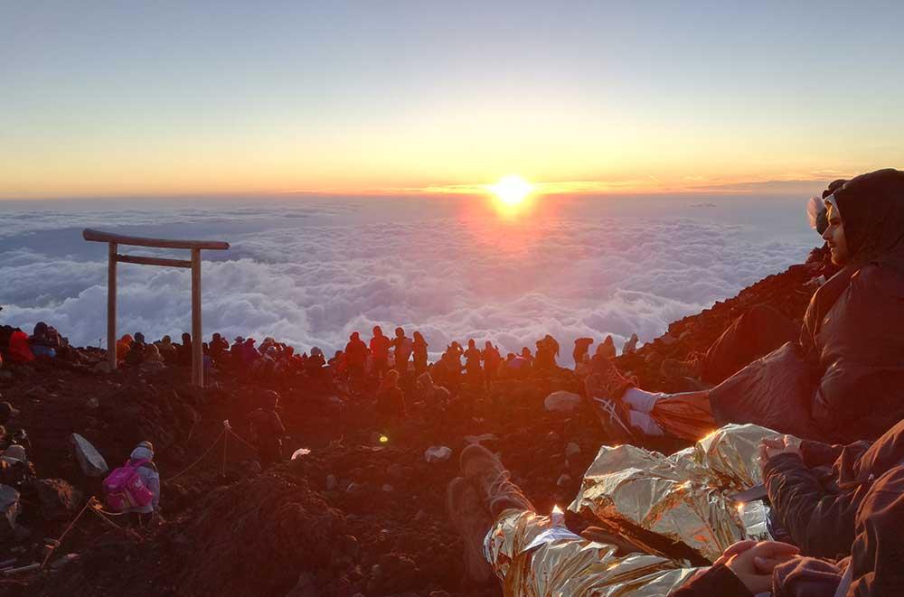 Amanecer desde el Monte Fuji