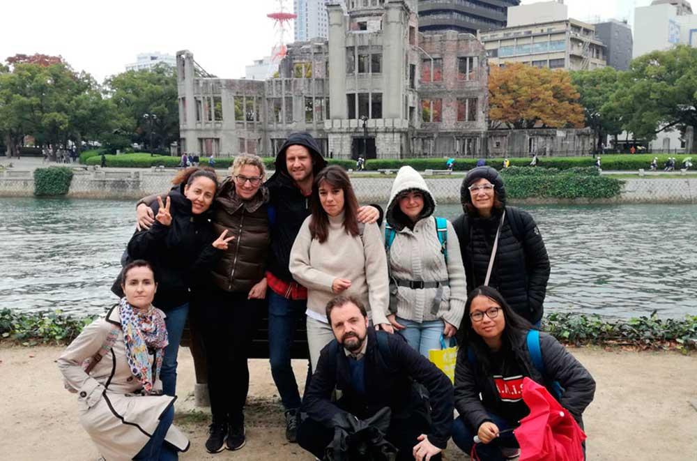 Grupo en Hiroshima