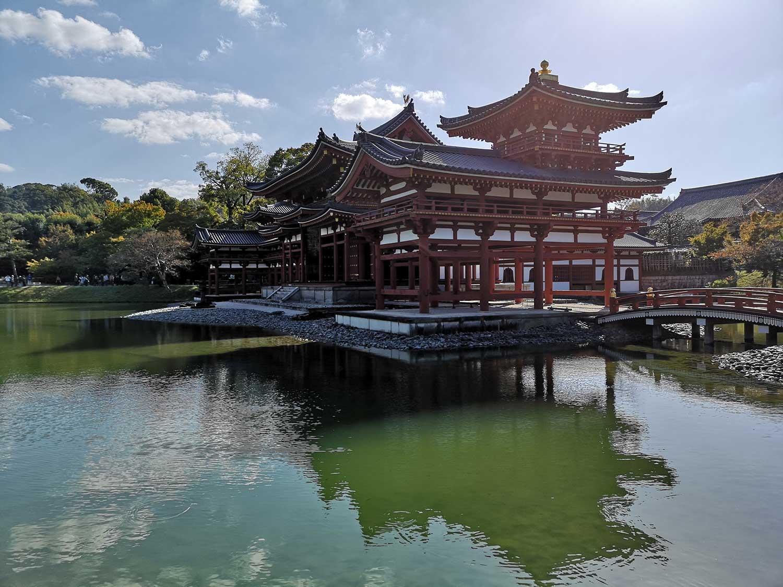 Imagen lateral del templo Byodo-in